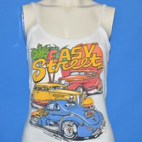 80s Easy Street Hot Rod Tank Top t-shirt Women's Medium