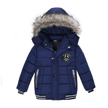 NEW High Quality 2017 Winter Child Boy Down Jacket Parka Big Girl Thin Warm Coat 3 4 5 6 7 Year Light Hooded Outerwears
