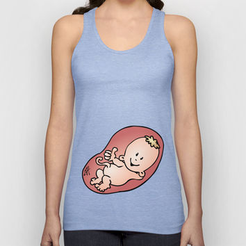 Pregnant - pregnancy Unisex Tank Top by Cardvibes