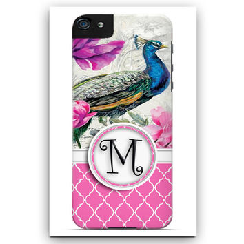 Personalized Cell Phone Case. Beautiful Peacock Case. Phone 4, I Phone 5, I Phone 5C,  Galaxy 3, Galaxy 4, Galaxy 5