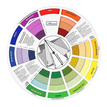 ATOMUS 1PC Artists Color Wheel Mixing Guide 23.5cm Diameter Tattoo accesories Permanent Makeup Micro Pigment Ink Color Wheel
