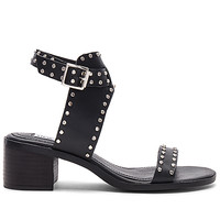 Steve Madden Gila Sandal in Black Leather