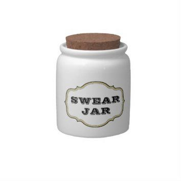Vintage Apothecary Label Swear Jar Candy Jars from Zazzle.com