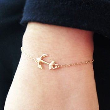 New Simple Gold Silver Chain Anchor Bracelet Charm Bracelets For Women Bracelet femme pulseras mujer Bijoux Jewelry Gold