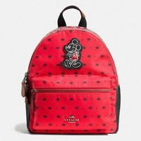 COACH DISNEY Mickey Mouse Nylon Bandana MINI Charlie Backpack Red F59831