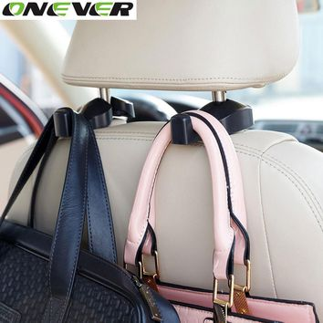 2pcs Back Seat Headrest Hanger Holder Hooks Clips for Bag Purse Cloth Grocery
