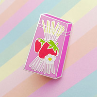 Snack Sticks Enamel Lapel Pin Badge