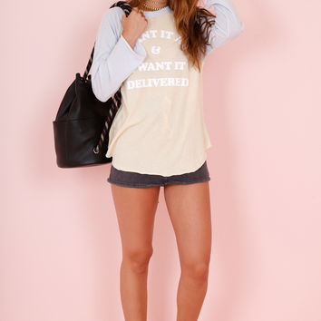 WILDFOX | I Want It Delivered Tee - Tawny Nude
