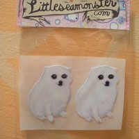 Chakka The Magical American Eskimo Handmade Stickers