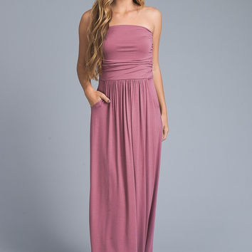 Simple and Stylish Maxi Dress - Mauve