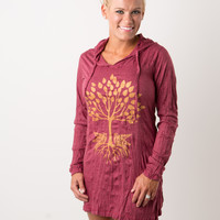 Tree of Life Hoodie Dress/Tunic