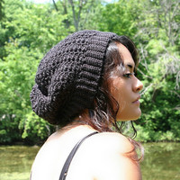 Black Slouch Hat  The Most Comfortable Slouch by KnotaGeek on Etsy