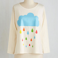 Quirky Mid-length Long Sleeve Waiting for the Nimbus Top