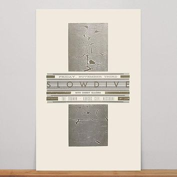 Slowdive Poster (Gold and Silver)