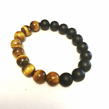 Half Black Half Tiger eye