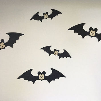 Set of 5 Mickey Mouse Bat Decorations, Disney Decorations, Disney Props, Halloween, Halloween Disney