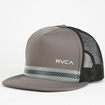 Rvca Draughts Mens Trucker Hat Cement One Size For Men 26054611601