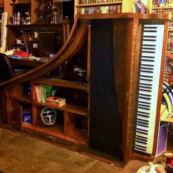 1920s Baby Grand Piano Bookcase ON SALE NOW