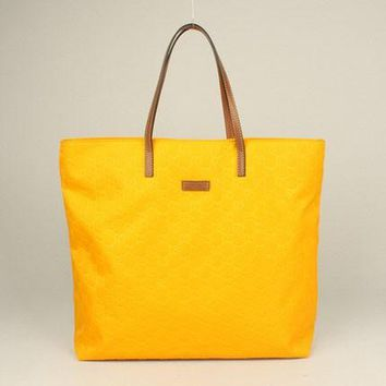 Gucci Tote bags 295252 HandBags Ladies Yellow Leather