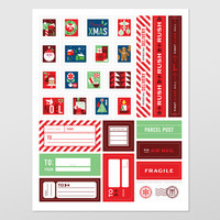 Holiday Mail Stickers