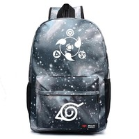 Anime Naruto Cosplay Male and female secondary school students nightclub couples anime casual canvas backpack birthday gift