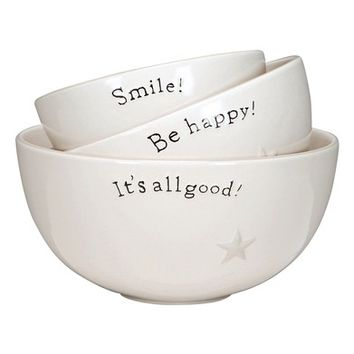 Primitives by Kathy Word Expressions Set of 3 Bowls | Nordstrom