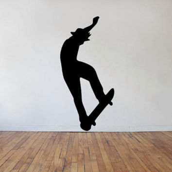 Skater Wall Decal - Skateboard - Skateboarder - Kids Room - Office - Living Room - Gift Idea - High Quality Vinyl Graphic