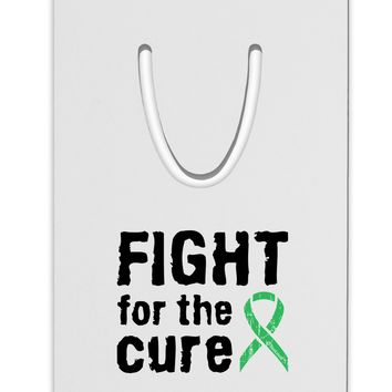 Fight for the Cure - Light Green Ribbon Celiac Disease Aluminum Paper Clip Bookmark