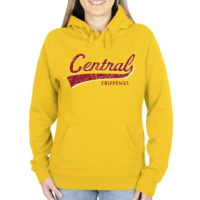 Central Michigan Chippewas Ladies All-American Primary Pullover Hoodie - Gold-