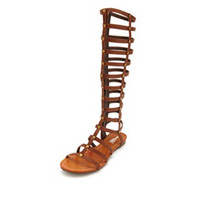 STUDDED KNEE-HIGH GLADIATOR SANDAL