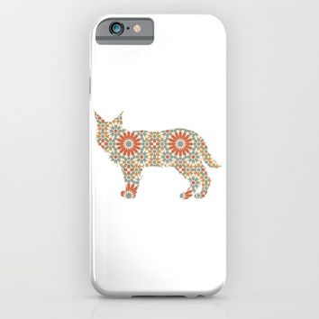 LYNX SILHOUETTE WITH PATTERN iPhone & iPod Case by deificus Art