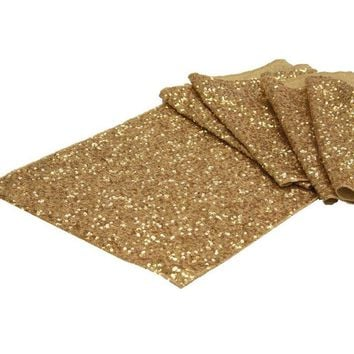 30x275CM Gold Silver Sequin Table Runner Wedding Sparkly Bling Tablecloth Wedding Event Banquet Party Decoration Table Cloth