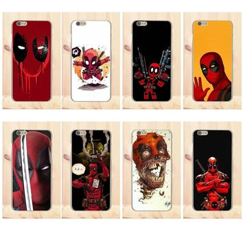 Deadpool Dead pool Taco Soft Art Cover Case For Xiaomi Redmi 4 3 3S Pro Mi3 Mi4 Mi4i Mi4C Mi5 Mi5S Mi Max Note 2 3 4 Marvel  Comic Spiderman AT_70_6