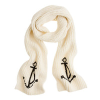 Anchor scarf - scarves, gloves & hats - Women's accessories - J.Crew