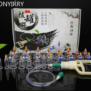 24Pcs Massage Chinese Cupping Therapy, Vacuum Cupping
