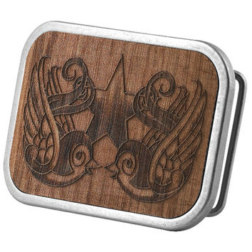 Swallows Wood Belt Buckle