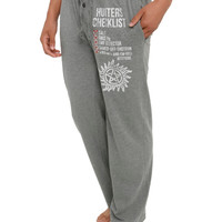 Supernatural Hunters Checklist Guys Pajama Pants