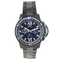 Invicta 15061 Mens Specialty Blue Dial Chronograph Black IP Steel Watch