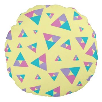 Triangle 1 round pillow