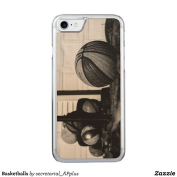 Basketballs Carved iPhone 7 Case