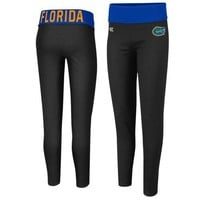 Florida Gators Ladies Pivot II Yoga Leggings - Black/Royal Blue