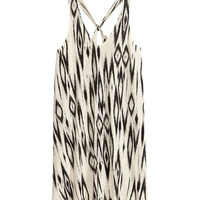 Tribal Print V-Neck Strappy Mini Dress