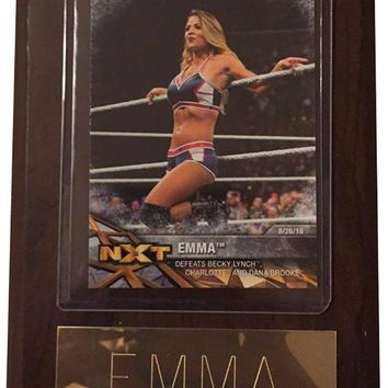 "Emma 4"" x 6"" WWE Women's Wrestling Plaque"