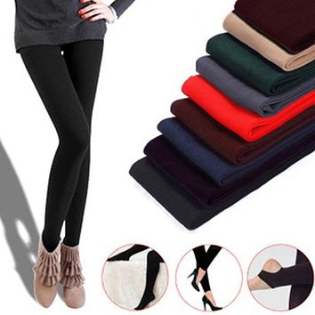 Sexy Women Tights Velvet Thick Stretched Slim Skinny Pantyhose Solid Autumn and Winter Warm Thermal Underpants medias Mujer