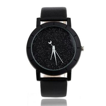 Solid Star Minimalist Fashion Women Watches For Lovers Leatheroid Strap Watch Women Ladies Wacth Montre Femme Relojes Saat