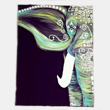 Home Textile Indian Black Painted Elephant Tapestry 130x150cm/153x203cm Size Bohemian Mandala Wall Hanging Tapestry Art Carpets