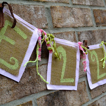 Burlap NAME banner hand painted color of your choose children room decor nursery decor wedding decor