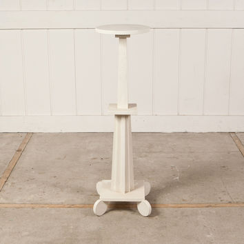 Tall White Plant Stand