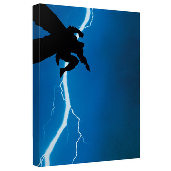 Batman Dark Knight Returns Cover Stretched Canvas Wall Art