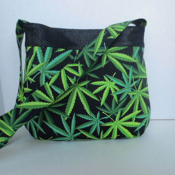 Cannabis Handbag - Pot leaf bag - Colorado cannabis - Cannabis bag